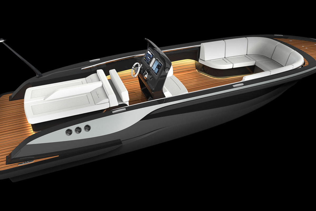 Open Tender boat luxurious