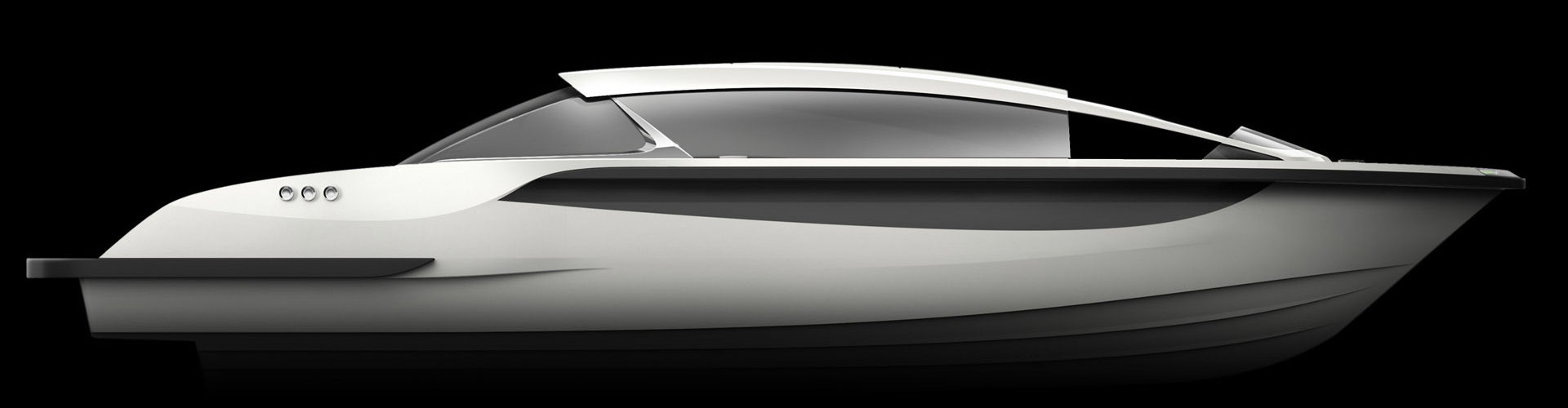 Profile of Luxurious limousine superyacht tender boat by Hamid Bekradi