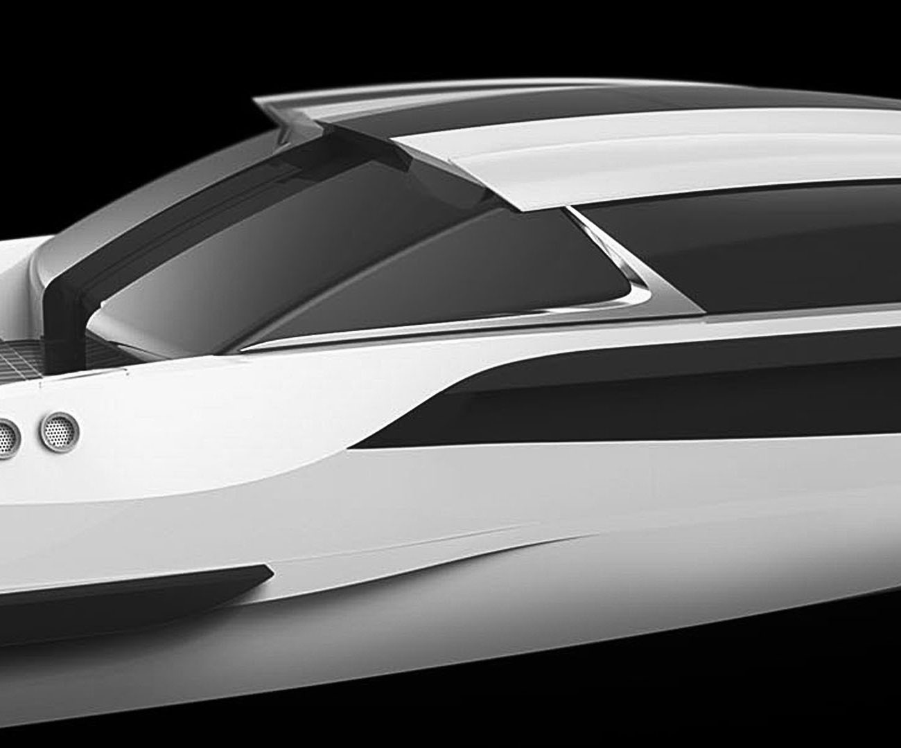 View of Luxurious limousine superyacht tender boat by Hamid Bekradi