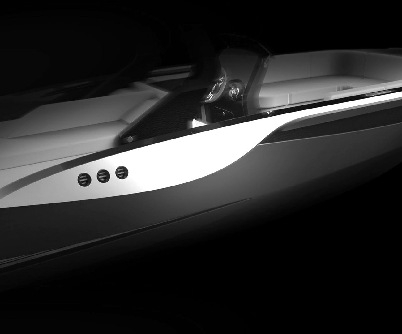 Open tender boat Silverline designed by Hamid Bekradi