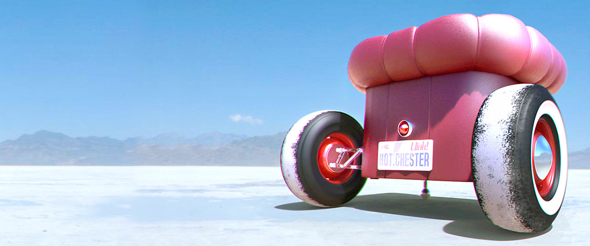 Hot rod furniture by Hamid Bekradi a mash up of hotrod wheels and a Chesterfield sofa